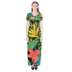 Tropical Adventure Short Sleeve Maxi Dress