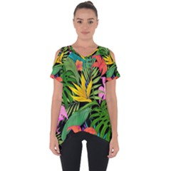 Tropical Adventure Cut Out Side Drop Tee