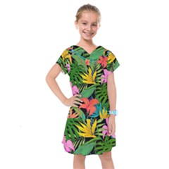 Tropical Adventure Kids  Drop Waist Dress