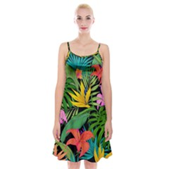 Tropical Adventure Spaghetti Strap Velvet Dress