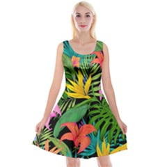 Tropical Adventure Reversible Velvet Sleeveless Dress