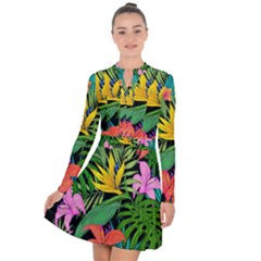Tropical Adventure Long Sleeve Panel Dress