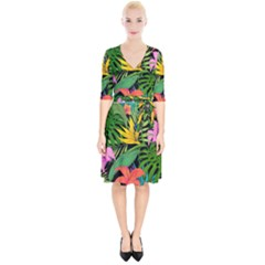 Tropical Adventure Wrap Up Cocktail Dress