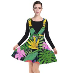 Tropical Adventure Plunge Pinafore Dress