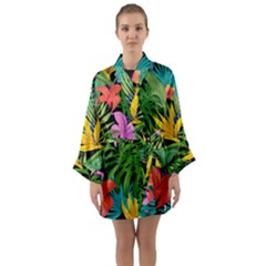 Tropical Adventure Long Sleeve Kimono Robe