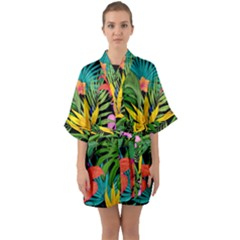 Tropical Adventure Quarter Sleeve Kimono Robe