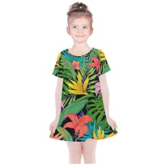 Tropical Adventure Kids  Simple Cotton Dress