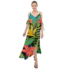 Tropical Adventure Maxi Chiffon Cover Up Dress