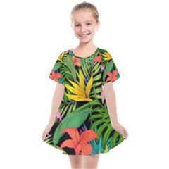 Tropical Adventure Kids  Smock Dress