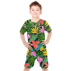 Tropical Adventure Kids  Tee And Shorts Set