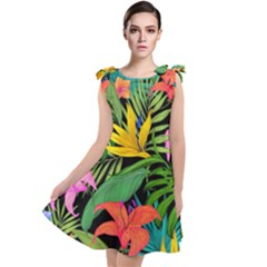 Tropical Adventure Tie Up Tunic Dress
