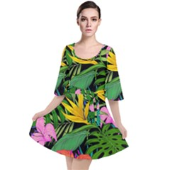 Tropical Adventure Velour Kimono Dress