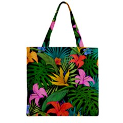 Tropical Adventure Zipper Grocery Tote Bag