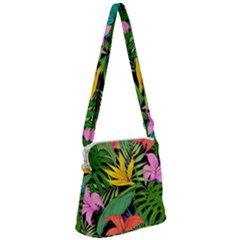 Tropical Adventure Zipper Messenger Bag