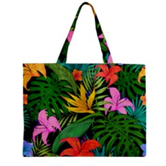 Tropical Adventure Zipper Medium Tote Bag