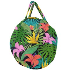 Tropical Adventure Giant Round Zipper Tote