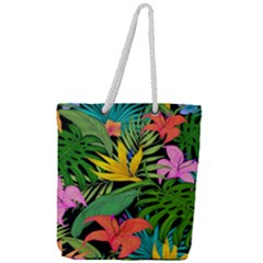 Tropical Adventure Full Print Rope Handle Tote (large)