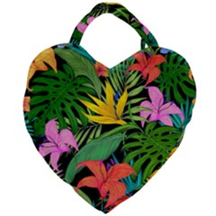 Tropical Adventure Giant Heart Shaped Tote