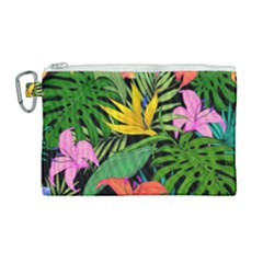 Tropical Adventure Canvas Cosmetic Bag (large)