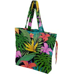 Tropical Adventure Drawstring Tote Bag