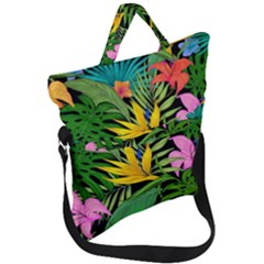 Tropical Adventure Fold Over Handle Tote Bag