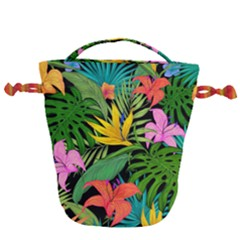 Tropical Adventure Drawstring Bucket Bag