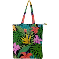 Tropical Adventure Double Zip Up Tote Bag