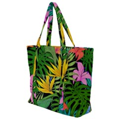 Tropical Adventure Zip Up Canvas Bag