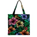 Hibiscus Dream Zipper Grocery Tote Bag View1