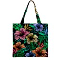 Hibiscus Dream Zipper Grocery Tote Bag View2