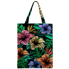 Hibiscus Dream Zipper Classic Tote Bag