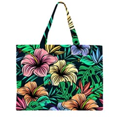 Hibiscus Dream Zipper Large Tote Bag