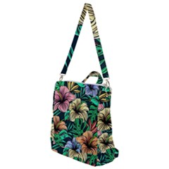 Hibiscus Dream Crossbody Backpack by retrotoomoderndesigns