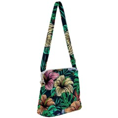 Hibiscus Dream Zipper Messenger Bag