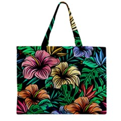 Hibiscus Dream Zipper Medium Tote Bag