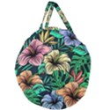 Hibiscus Dream Giant Round Zipper Tote View2