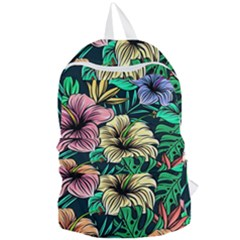 Hibiscus Dream Foldable Lightweight Backpack