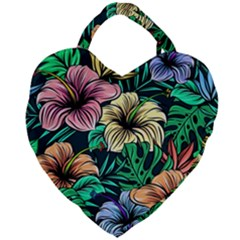 Hibiscus Dream Giant Heart Shaped Tote