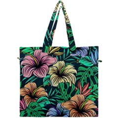 Hibiscus Dream Canvas Travel Bag