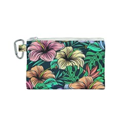 Hibiscus Dream Canvas Cosmetic Bag (small)