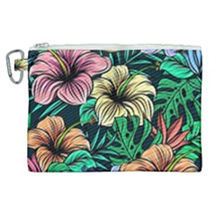 Hibiscus Dream Canvas Cosmetic Bag (xl)