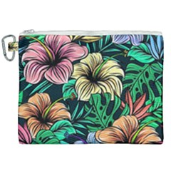 Hibiscus Dream Canvas Cosmetic Bag (xxl)