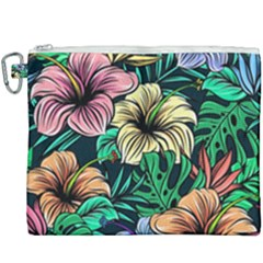 Hibiscus Dream Canvas Cosmetic Bag (xxxl)