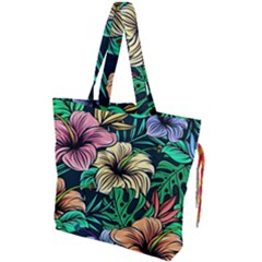 Hibiscus Dream Drawstring Tote Bag