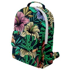 Hibiscus Dream Flap Pocket Backpack (small)