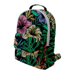 Hibiscus Dream Flap Pocket Backpack (large)