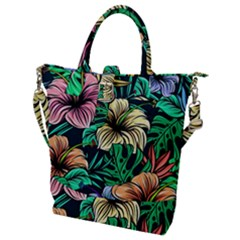 Hibiscus Dream Buckle Top Tote Bag