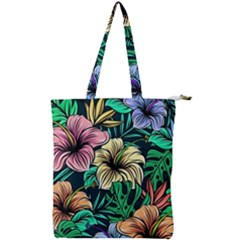 Hibiscus Dream Double Zip Up Tote Bag