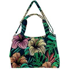 Hibiscus Dream Double Compartment Shoulder Bag