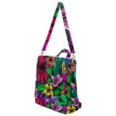 Neon Hibiscus Crossbody Backpack
